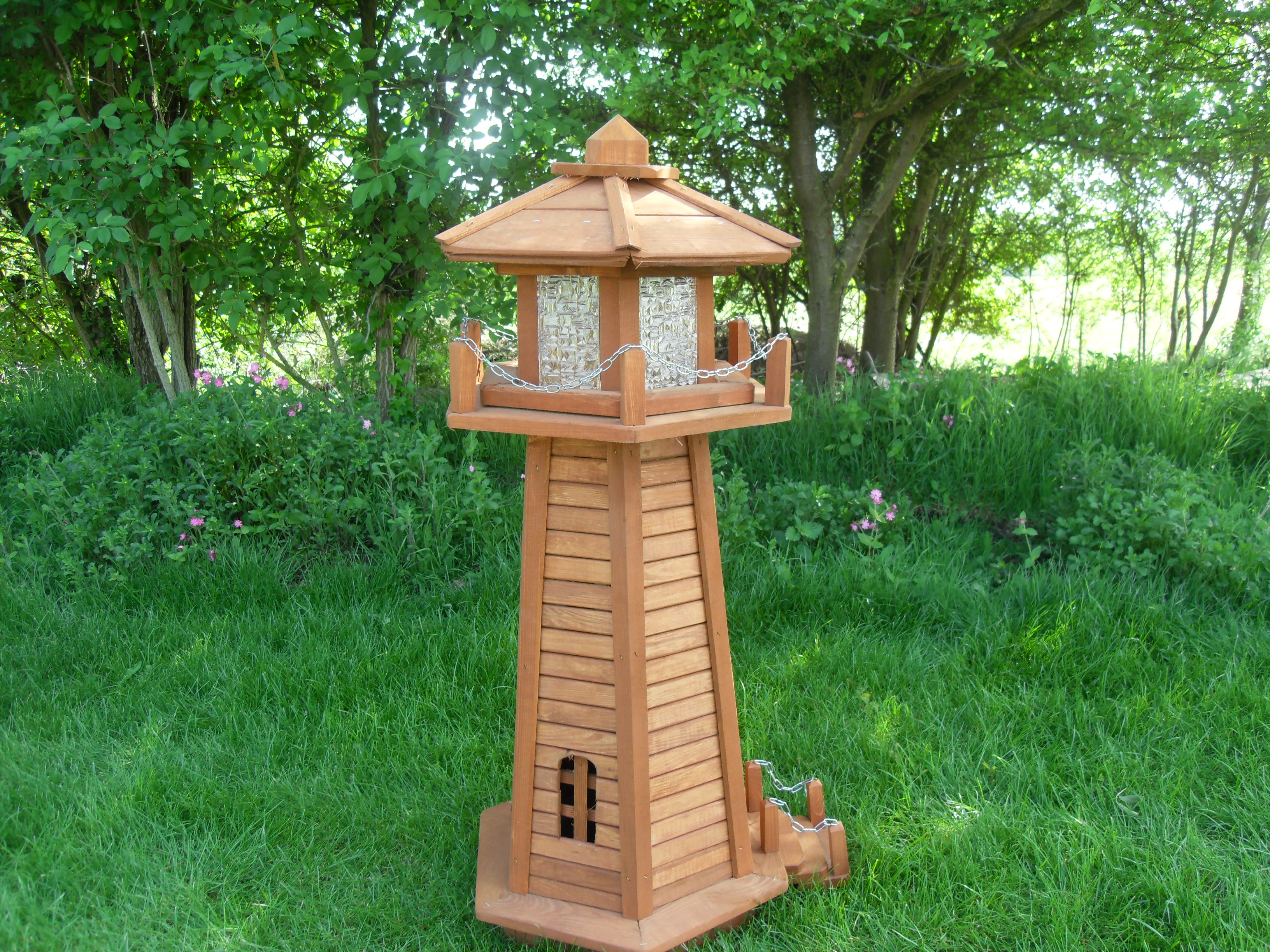 Wooden lighthouse lawn ornaments bing images for Outdoor house ornaments